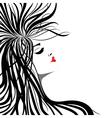 Heart lips girl vector