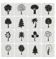 Green forest trees design elements vector