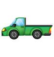 A green truck vector