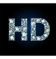 Diamond hd symbol vector