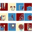 Education school symbol collection vector