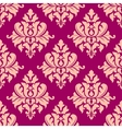 Beige damask seamless pattern vector