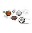 Sport ball sketches vector