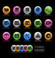 Network server icons vector