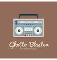 Ghetto blaster radio vector