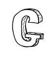 English alphabet - hand drawn letter g vector