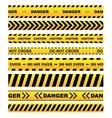 Yellow warning tapes set vector