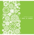 Abstract green and white circles vertical frame vector