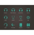 Headphones and speakers icons vector