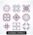 Business geometric shape symbols icon set vector