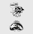 Wedding romantic icon and pictogram flat de vector