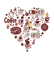 Conceptual background with coffee design elements vector