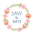 Save the date florals vector