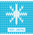 Knitted sweater pattern with snowflake christmas vector