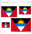 Antigua and barbuda flag template vector