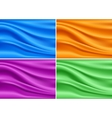 Colorful modern banner silk set abstract vector