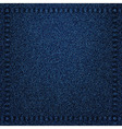 Denim jeans texture with seams vector