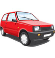 Red city car vector