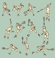 Woman tennis action sport vector