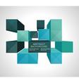 Colorful 3d cubes background - design concept vector