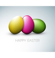 Simple happy easter card vector