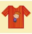 T-shirt boy strips vector