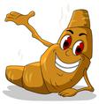 Happy hot bread cartoon vector