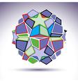 Complicated kaleidoscope 3d sphere constructed vector