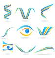 Set of company logos vector