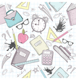 Cute school seamless abstract pattern vector