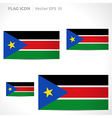 South sudan flag template vector