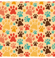 Seamless pattern with animal paws vector