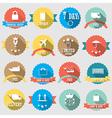 Set of color shopping shield retro vintage badges vector