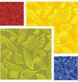 Wings - seamless pattern set vector