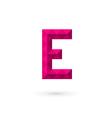 Letter e mosaic logo icon design template elements vector