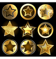 Set of military gold stars vector