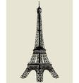 Eiffel tower sketch vector