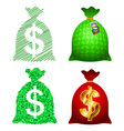 Variations currency sack dollar usd vector