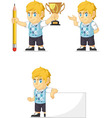 Blonde rich boy customizable mascot 13 vector