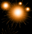 Happy new year fireworks background vector