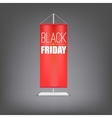 Black friday vertical red flag at the pillar vector