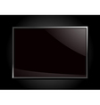 Glossy silver framed glass plaque on a black backg vector