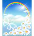 Butterfly in the sky vector