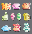 Line food labels vector