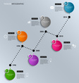 Time line info graphic colored round template vector