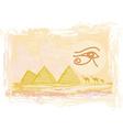Egypt symbols and pyramids - traditional horus eye vector