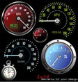 Set of speedometer and counter vector