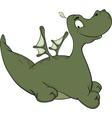 Little green dragon cartoon vector