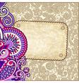 Ornate floral grunge vintage template vector
