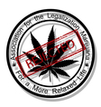 Reject marijuana vector